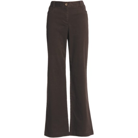 Stretch Cotton Chino Pants (For Women)