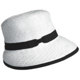 Betmar Scallop Braid Visor Cap (For Women)