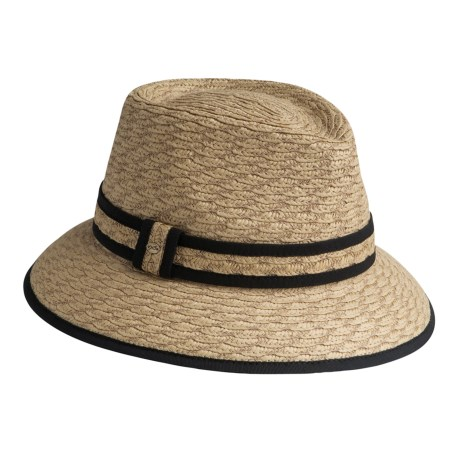 Betmar Fedora Hat - UPF 50+, Scalloped Braid (For Women)