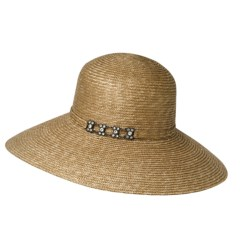 Betmar Raffia Picture Brim Hat - UPF 50+ (For Women)