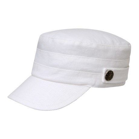 Betmar Military Brass Button Accent Cap (For Women)