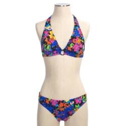 Abs Allen Schwartz Garden Party Bikini Swimsuit - 2-Piece, Halter, Hipster (For Women)