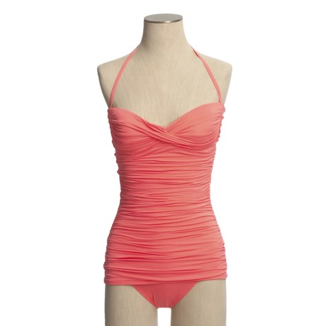 Carmen Marc Valvo Bandeau Swimsuit - 1-Piece (For Women)