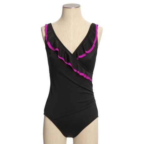Longitude Ruffled Surplice Swimsuit - 1-Piece (For Women)