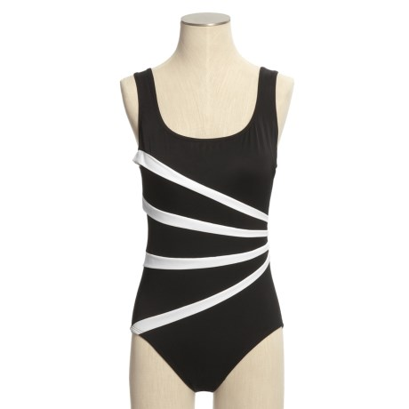Longitude Sun Ray Tank Swimsuit - 1-Piece, Tummy Control (For Women)