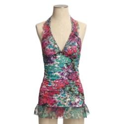 Kenneth Cole Fleur-de-Leaf Swimdress - Halter (For Women)