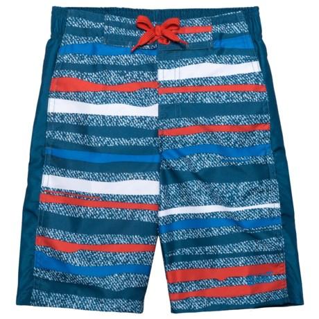 Ocean Gear American Stripe Swim Trunks - UPF 50+ (For Big Boys)