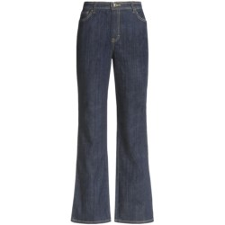 Stretch Cotton Jeans - 5-Pocket, Straight Leg (For Women)