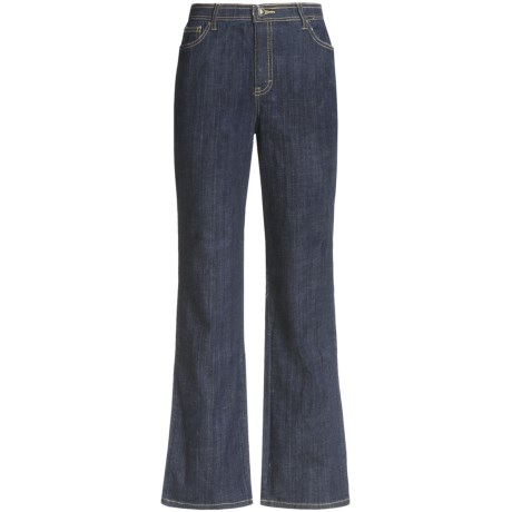 Specially made Stretch Cotton Jeans - 5-Pocket, Straight Leg (For Women)