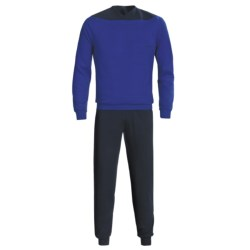 Calida Relax Cuffed Pajamas - Heavy Interlock Cotton, Long Sleeve (For Men)