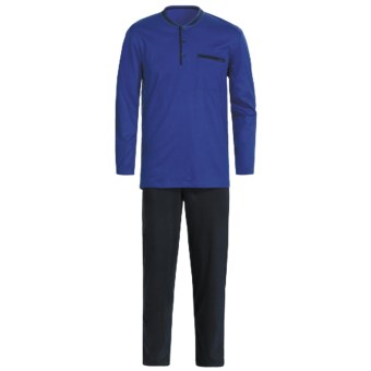 Calida Relax Pajamas - Heavy Interlock Cotton, Long Sleeve (For Men)