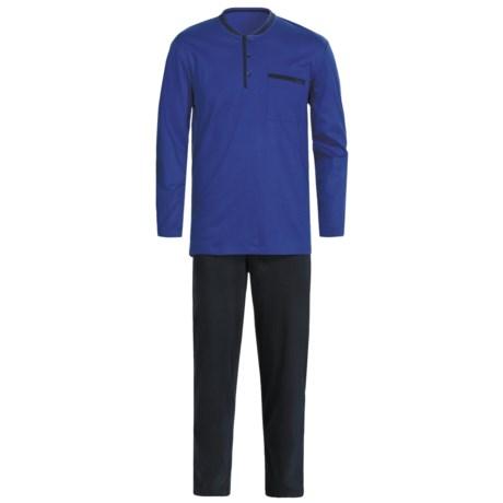 Calida Relax Pajamas - Heavy Interlock Cotton, Long Sleeve (For Men)