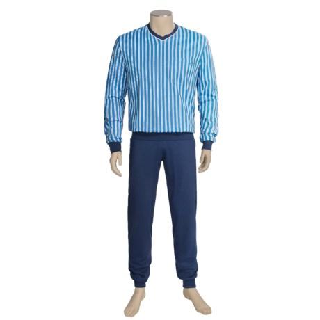 Calida Off Shore Pajamas - V-Neck, Long Sleeve (For Men)