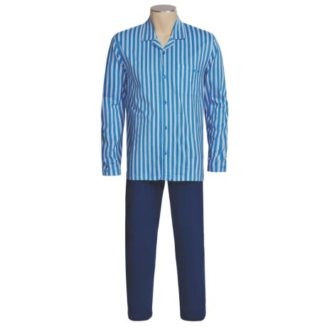 Calida Off Shore Pajamas - Button Front, Long Sleeve (For Men)
