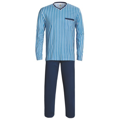 Calida Off Shore Pajamas - V-Neck, Long Sleeve (For Men)