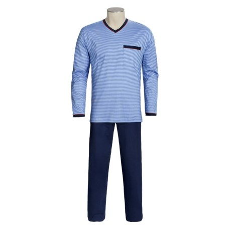 Calida Ocean View Pajamas - V-Neck, Long Sleeve (For Men)