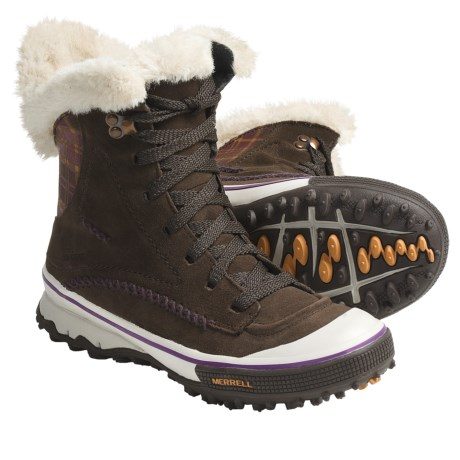 Merrell Pixie Lace Snow Boots - Waterproof, Insulated (For Women)