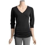 Yala Bamboo Dreams® by  Fiona Crossover Shirt - 3/4 Sleeve (For Women)