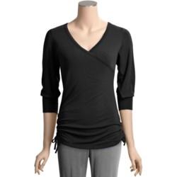 Bamboo Dreams® by Yala Fiona Crossover Shirt - 3/4 Sleeve (For Women)