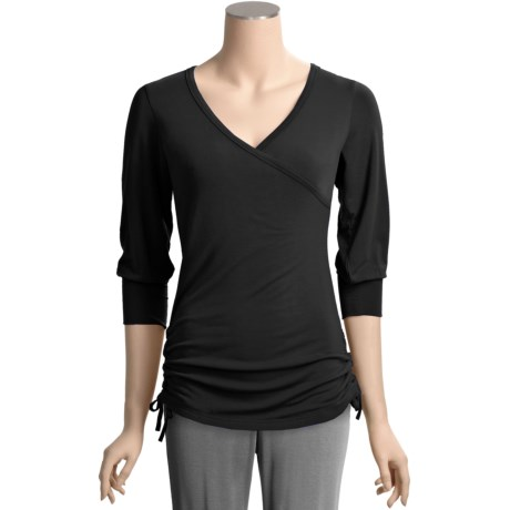 Yala Bamboo Dreams® by  Fiona Crossover Shirt - 3/4 Sleeve (For Women)