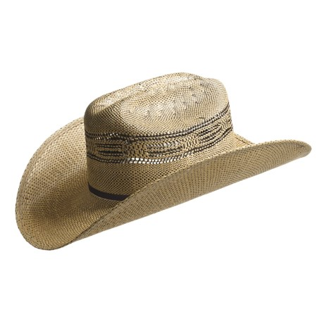 Bailey Barker Straw Cowboy Hat - Stockman Crown (For Men)
