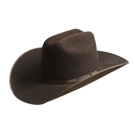 Bailey Pierce Suede Cowboy Hat - Cattleman Crown