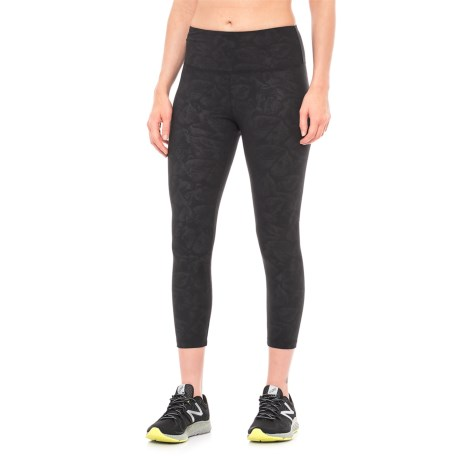Balance Collection Embossed High Waist Capris (For Women)
