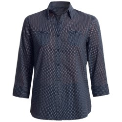 Foxcroft Cotton Lawn Shirt - Fitted, 3/4 Sleeve (For Women)