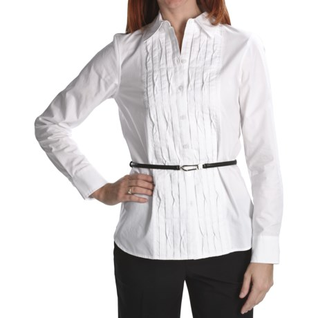 Foxcroft Thyme (x) 2 Garment-Washed Cotton Origami Shirt - Long Sleeve (For Women)