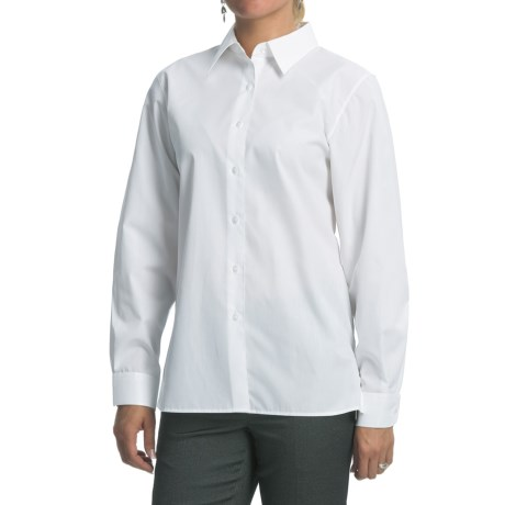 Foxcroft Cotton-Poly Cotton Shirt - Classic Cut, Long Sleeve (For Women)