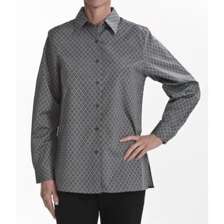 Foxcroft Wrinkle-Free Jacquard Shirt - Long Sleeve (For Women)