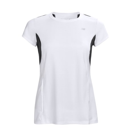 New Balance Color-Block Tempo Shirt - UPF 20+, Short Sleeve (For Women)