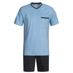 Calida Relax Seasonal Cotton Pajamas - V-Neck, Short Sleeve (For Men)