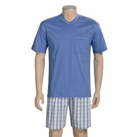 Calida Regatta Pajamas - V-Neck, Short Sleeve (For Men)