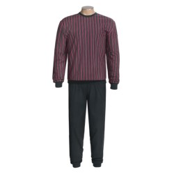 Calida Private Place Cuffed Pajamas - Long Sleeve (For Men)