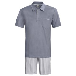 Calida Atlantic Polo Shirt Pajamas - Short Sleeve (For Men)