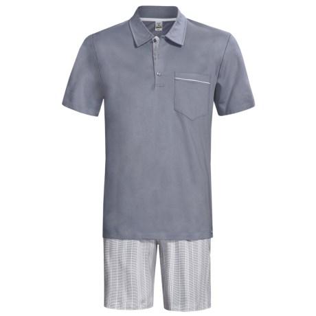 Calida Atlantic Polo Shirt Pajamas - Short Sleeve (For Men)