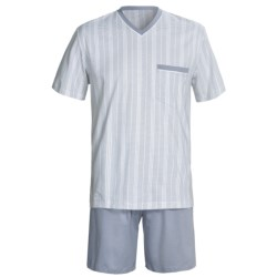 Calida Atlantic Pajamas - V-Neck, Short Sleeve (For Men)