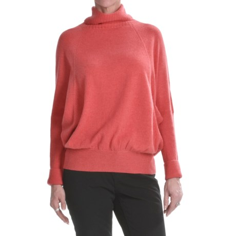Lauren Hansen Cashmere Turtleneck Sweater - Bat Wing (For Women)
