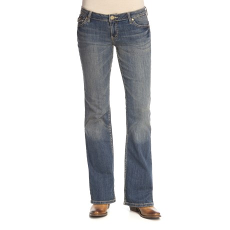 Washed Denim Jeans - Bootcut (For Women)