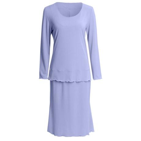 Jersey Knit Shirt and Skirt Set - Long Sleeve (For Women)