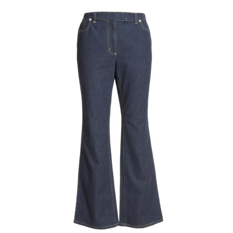 Stretch Cotton Denim Jeans - Bootcut (For Women)