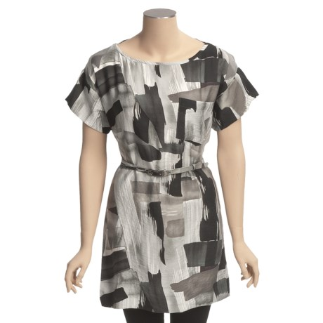 Specially made Belted Tunic Shirt - Short Sleeve (For Women)