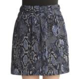 Printed Mini-Skirt - Elastic Waist (For Women)