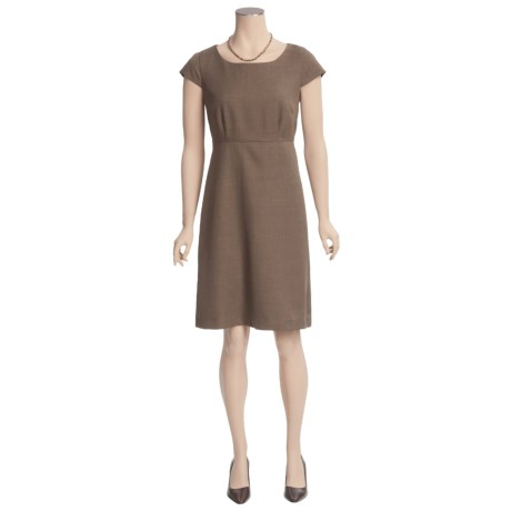 Fitted Tweed Dress - Short Sleeve (For Women)