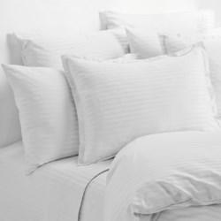 Melange Home Dobby Stripe Standard Pillowcases - Pair, 430 Thread Count