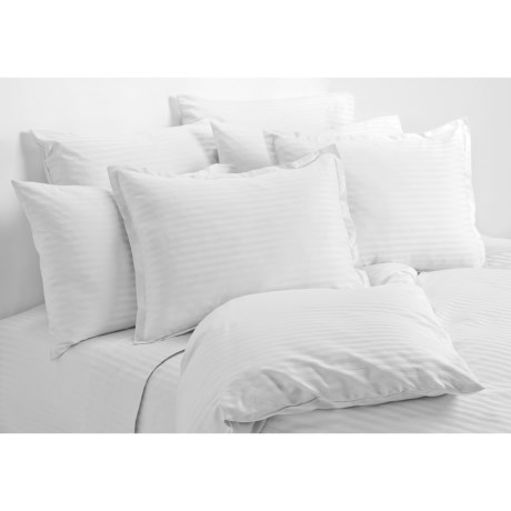 Melange Home Dobby Stripe Duvet Set - King, 430 Thread Count