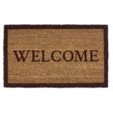 Imports Unlimited Simply Welcome Entry Mat - Coir, 18x30""