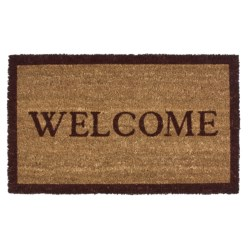 """Imports Unlimited Simply Welcome Entry Mat - Coir, 18x30"""""""