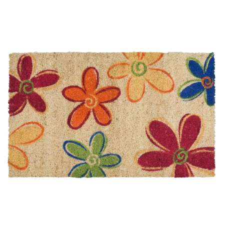 """Imports Unlimited Mostly Flowers Entry Mat - Coir, 18x30"""""""
